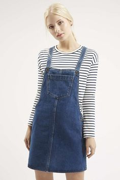 55395be22d75e PA4 Denim Dungaree Dress, Denim Dungarees, Frock Fashion, Tween Fashion,  Fashion Outfits