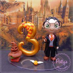 Topo de Bolo Harry Potter