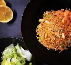 Indische+Reispfanne Fried Rice, Super, Chili, Fries, Ethnic Recipes, Food, Honey, Garlic, Salt