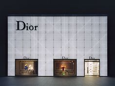 Dior Nagoya by office of kumiko inui Window Design, Door Design, Wall Design, Retail Facade, Shop Facade, Facade Design, Exterior Design, Architecture Design, Banner Store