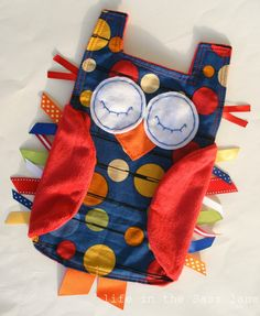 Woodland OWL Ribbon Tag Baby Blanket in Blue by LifeInTheSassLane on Etsy