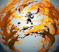 Splatoon by あじょも ( Splatoon 2 Game, Splatoon Squid, Nintendo Splatoon, Splatoon Comics, Game Character Design, Character Art, Totoro, Gamers Anime, Video Game Art