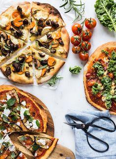 Grønt på pizzaen