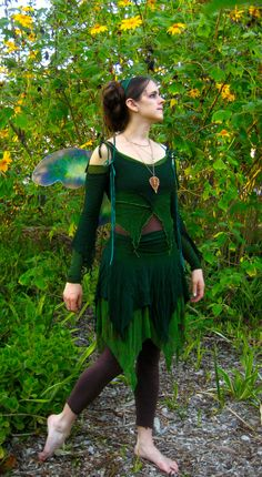 Halloween '08: green fairy by aelthwyn.deviantart.com on @DeviantArt