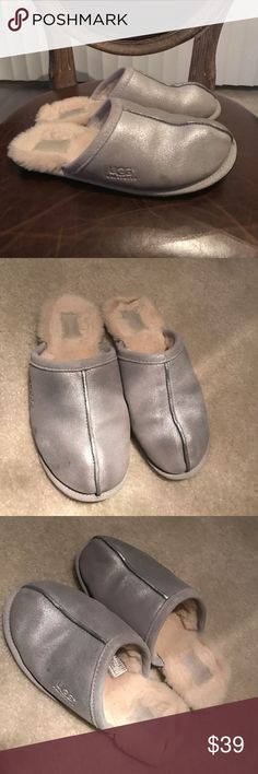 Uggs slippers silver suede size 8 These super soft uggs are from Nordstrom size 8 UGG Shoes Slippers