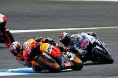 Jorge Lorenzo followed Casey Stoner for 28 laps but could not go through, Portuguese GP,  Stoner Leads 2012 Championship.