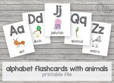 Un favorito personal de mi tienda Etsy https://www.etsy.com/mx/listing/464926781/tarjetas-de-abc-con-animales-imprimibles
