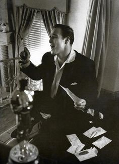 Marlon Brando singing with his Academy Award blurry in the forefront. No big deal!