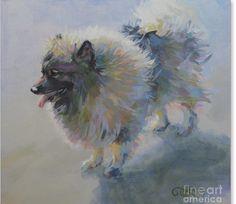 Keeshond. Wonderful painting!