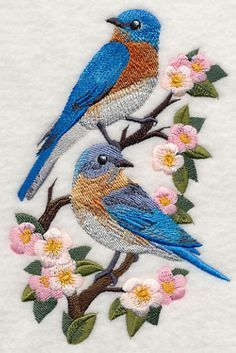Eastern Bluebirds and Blossoms