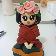 Frida Kahlo em biscuit #chaveirinho #ateliedasjorge