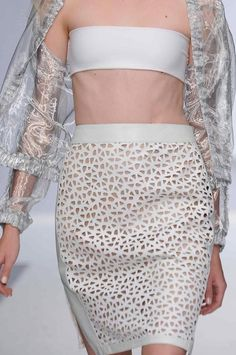 #Lasercutting techniques and sheer outerwear continue to be key trends this season.