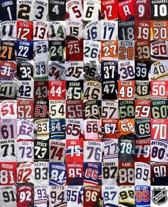 Hockey Numbers. This proving there was a player in the NHL with the number 69