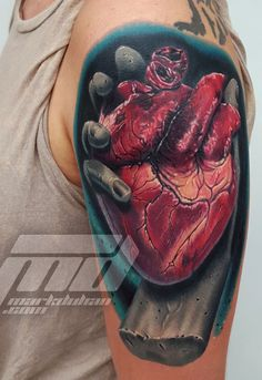 44 Best Best 3d Heart Tattoos In The World Images On Pinterest