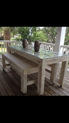 Old Vintage Door table and Bench! Custom made from Homelite Johns in Ridgeland, Mississippi!