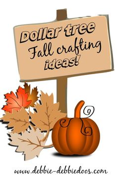 Dollar tree Fall crafting ideas with pumpkins, table top and more decorating ideas, for the Fall season on a serious friendly budget! - Diy Home Crafts Autumn Crafts, Thanksgiving Crafts, Thanksgiving Decorations, Pumpkin Decorations, Harvest Crafts, Fall Felt Crafts, Pallet Decorations, Christmas Decorations, Christmas Lights