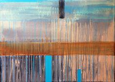 Berna Erkun ''Kıyı eskizleri ''/ (Coastline sketches 3)   acrylic on canvas 2015