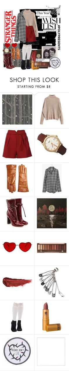 """""""#PolyPresents: Wish List"""" by jgaonay ❤ liked on Polyvore featuring Cole & Son, RED Valentino, Longines, Saks Fifth Avenue Collection, Madewell, Malone Souliers, Urban Decay, By Terry, Bootights and Lipstick Queen"""