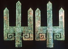 Bronze Standards, Zhongshan Tombs  Pingshan, Hebei province, Warring States Period (E. Zhou), late 4th century BC.