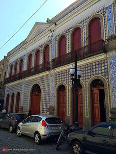 Casa da frontaria azulejada (from 1865) - Santos, Brazil