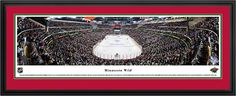 Minnesota Wild Panoramic -  Xcel Energy Center Pictures  $199.95