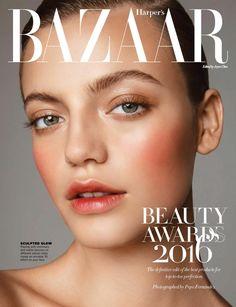 Flushed cheeks (Ignacia Walton by Pepo Fernández for Harper's Bazaar Singapore November 2016)