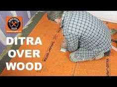 What should you do BEFORE tiling floors? It prevents broken and cracked tiles.check out our tutorial! Bathroom Renovations, Home Remodeling, Bathroom Ideas, Bathrooms, Waterproof Bathroom Flooring, Shower Kits, Tile Installation, Home Repairs, Walk In Shower