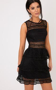 754763a4cbca Dyani Black Sleeveless Lace Dress Korta Klänningar, Formella Klänningar,  Klänning Kjol, Höga Klackar