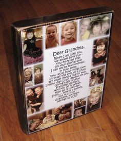 Personalized Photo COLLAGE Blocks- Custom made to order with LOTS of pictures and a poem: