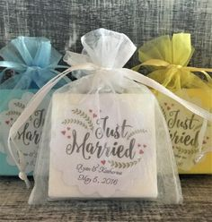 25 + › Just Married Soap Favors: Wedding Favors, Wedding Soap Favors, Destination Wedding Favors, Wedding, Soap Favors Summer Wedding Favors, Destination Wedding Favors, Inexpensive Wedding Favors, Elegant Wedding Favors, Edible Wedding Favors, Wedding Favors For Guests, Bridal Shower Favors, Wedding Gifts, Diy Wedding