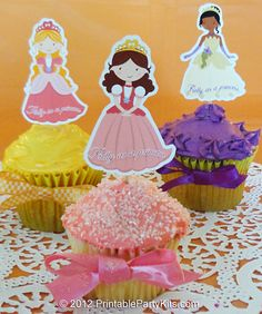 Free printable princess cupcake picks