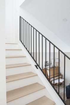 Metal Railings + A Sleek Staircase Design