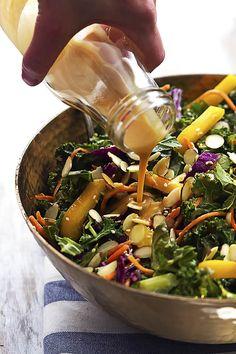 Kale Recipes Vegan, Raw Food Recipes, Veggie Recipes, Asian Recipes, Cooking Recipes, Healthy Recipes, Vegan Meals, Healthy Eats, Healthy Appetizers