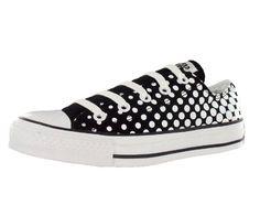 Converse Men's All Star Chuck Taylor Dots Ox Casual Shoe Black, White (5)