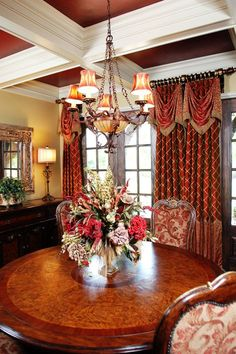 Richly decorated dining room