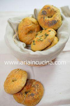Blog di cucina di Aria: Bagels integrali