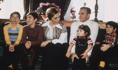 The Shah of Iran with his third wife Farah Diba and their children, Prince Reza, Prince Ali Reza and the two younger children, Princess Farahnaz and Princess Leila