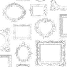 Modern Wallpaper Metallic Frames 575219 - http://www.muriva.com/portfolios/modern-wallpaper-metallic-frames-575219/