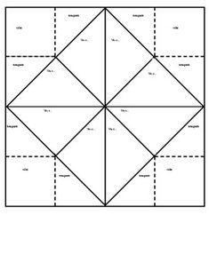 Fortune Teller Template | 9 Best Images Of Blank Printable Fortune Teller Paper Fortune