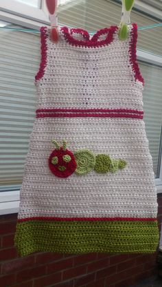 Very Hungry Caterpillar Crochet Baby Dress by PreciousBySarah, £19.00