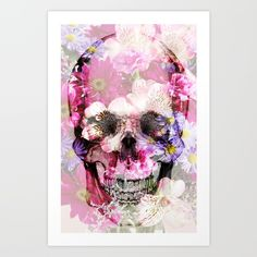 Skull 2.0 Art Print by Rheeka. Worldwide shipping available at Society6.com. Just one of millions of high quality products available.