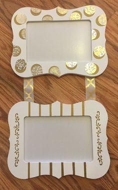 Alpha Phi UConn Big & Little Frames! White and Gold #CraftyPhis #AlphaPhiUConn