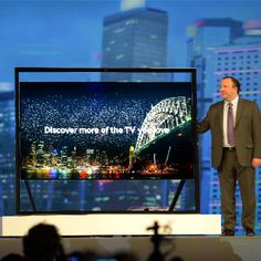 The Samsung Ultra HD TV is a huge 85-inches with new Gallery float design