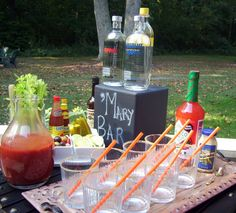 Bloody Mary Bar....COYE!! I am putting you in charge of this!!!...Please....
