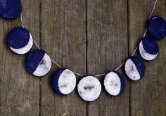Handmade Felt Garland. The Phases of the Moon. by alyparrott, $40.00