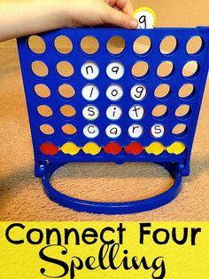 Connect 4 Spelling - image only   http://480degrees.com/