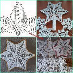 Crochet Ornament Patterns, Crochet Skirt Pattern, Crochet Ornaments, Christmas Crochet Patterns, Crochet Snowflakes, Crochet Tree, Crochet Mandala, Crochet Doilies, Tulle Christmas Trees