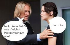 """Lol, basically every fangirl. """"I should hate Cato...but...abs..."""