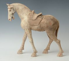 Tang Dynasty, Chinese Pottery Horse with Oxford Test