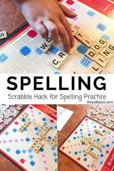 Need a fun way to practice spelling? This Scrabble spelling hack is great for fun spelling practice with all ages (and multiple kids)!